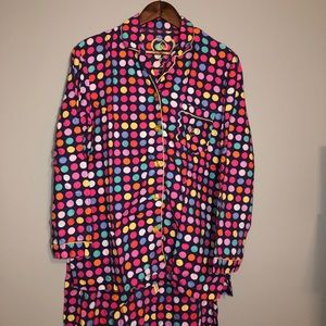 Victoria's Secret Womens 2pc PolkaDot Pajamas Med
